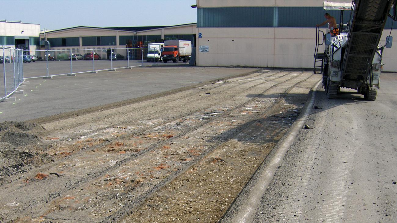 Pavimentazione asfalto azienda bellesia scavi