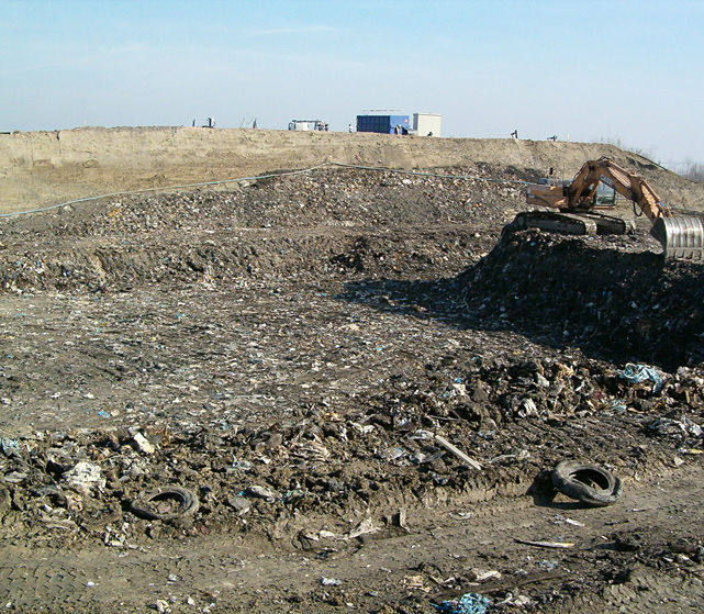 Creazione discarica scavi e movimentazione terreno Bellesia scavi