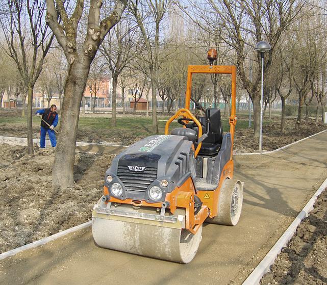 Asfalto dei giardini pubblici e privati Bellesia scavi