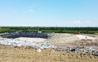 Copertura provvisoria bacino rifiuti sabar bellesia scavi