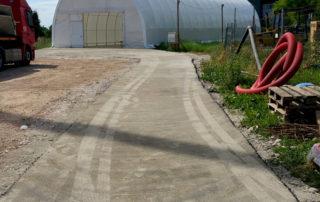 strada di servizio nuova tensostruttura bellesia scavi