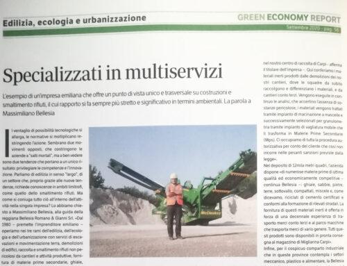 Green economy report parla di noi
