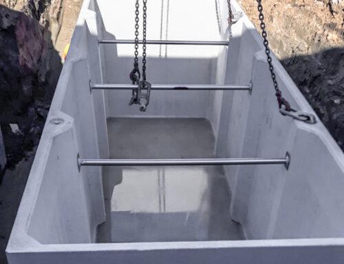 Scavi per la posa di una vasca di prima pioggia a Carpi (MO)